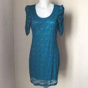 Blue/Green Lace Dress